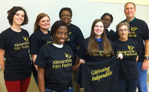 Volunteers for the Alexandria Film Festival
