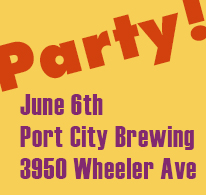 Fundraiser Party at Port City Brewing, June 6th, 2013
