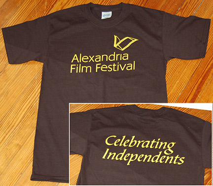 T-shirt for Alexandria Film Festival, to be given to volunteers